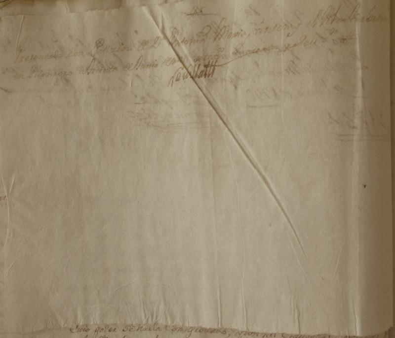 [Folio 15v] Presentado con petición de doña Antonia Mejía, ante mí el alcalde ordinario en Rionegro a treinta de junio de mil setecientos cuarenta y seis años. Rivillas