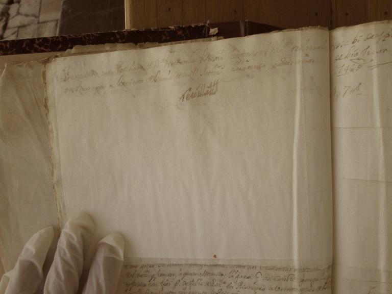 [Folio 19v] Presentado con petición de doña Antonia Mejía, ante mí el Alcalde ordinario en Rionegro a treinta de junio de mil setecientos cuarenta y seis años. / Rivillas