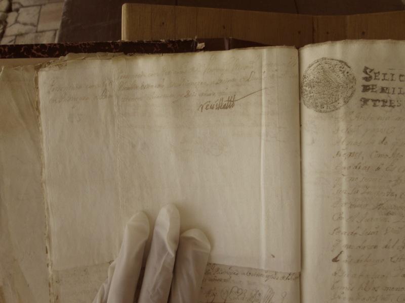 [Folio 24v] Presentado con petición de doña Antonia Mejía, ante my el Alcalde ordinario, en Rionegro, a treinta de junio de mil setecientos cuarenta y seis años. / Rivillas.