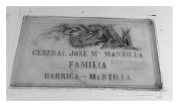 General José María Mantilla- Familia Barriga - Mantilla