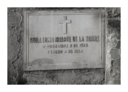 Tumba de Guillermo Iriarte Rocha