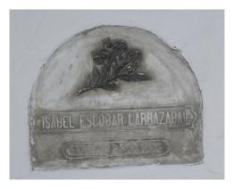 Tumba de Isabel Escobar Larrazabal