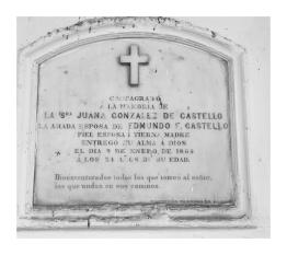 Tumba de Juana González De Castello