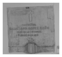 Tumba de Monseñor Salustiano Gómez Riaño