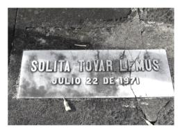Tumba de Solita Tovar Lemus