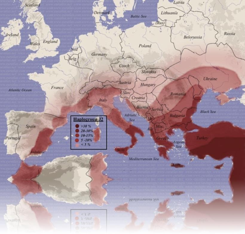 Distribución Haplogrupo J2
